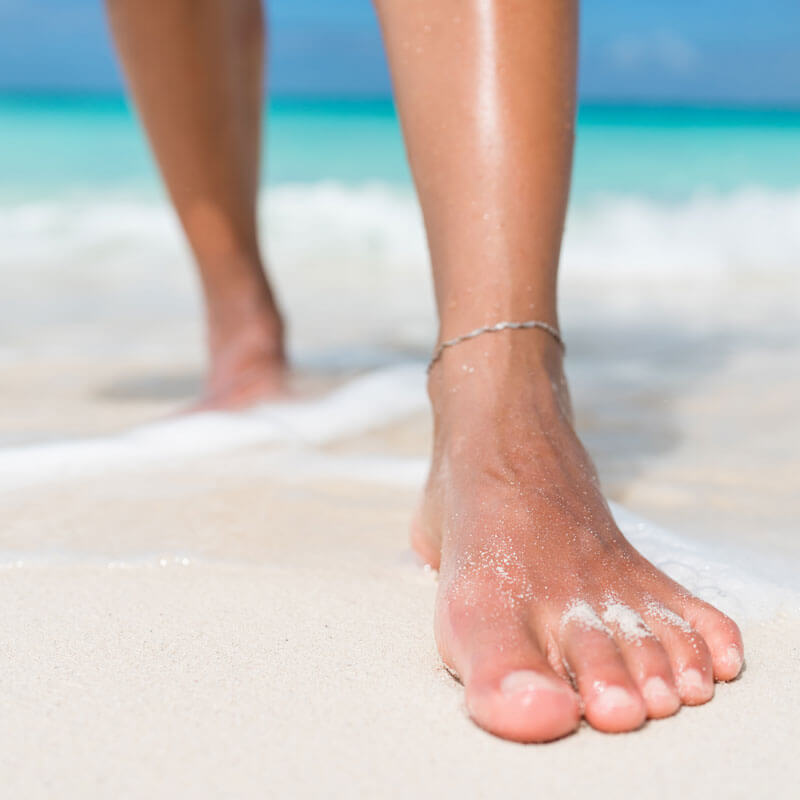 Essential Chiropractic and Healthcare Clinic - Caring for Our Feet - Feet on the Beach