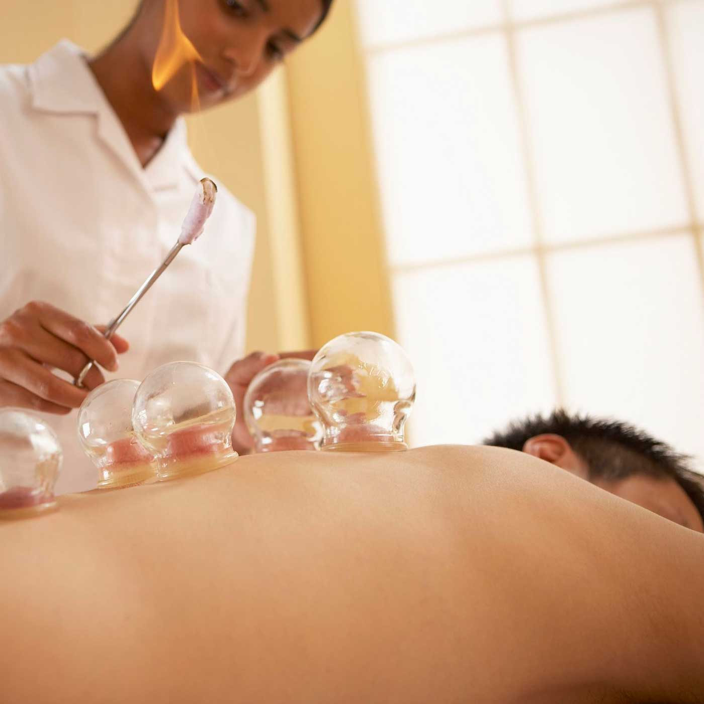 Relaxation massage back cupping